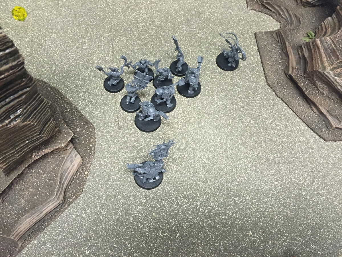 The final couple fights before it was all over. Sigmar's light won the day.