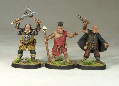 Orc characters painted
