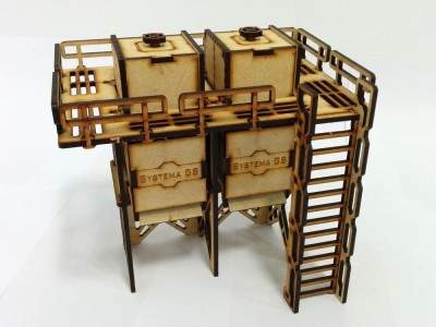 8-Systema-Gaming-Base-0-Storage-Silo-MDF-Wargaming-Terrain-Infinity-40k