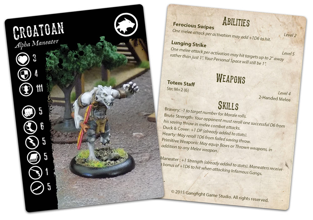 Croatoan Monster Card