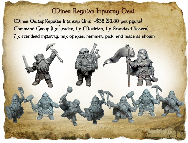 Dwarf infantry With Command