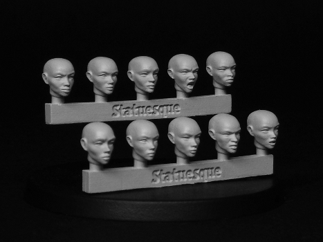 Heroic Scale Female Heads - Bald