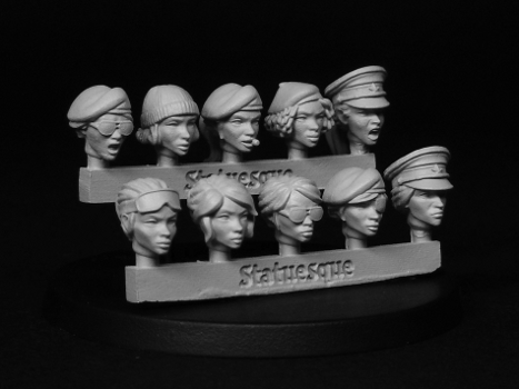 Heroic Scale Female Heads - Veterans
