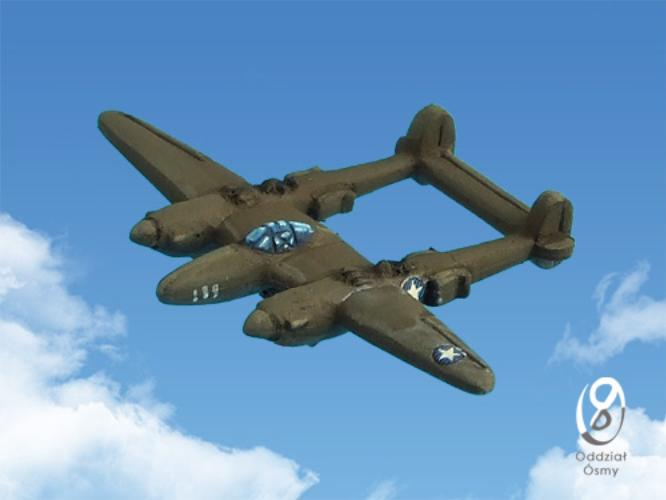P-38G Lightning (8 pcs) Famous twin-boom fighter - early version