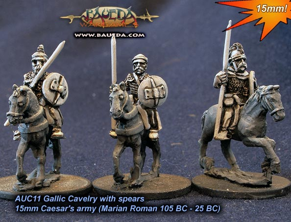 AUC11 - Gallic Cavalry with spears (actual production models)