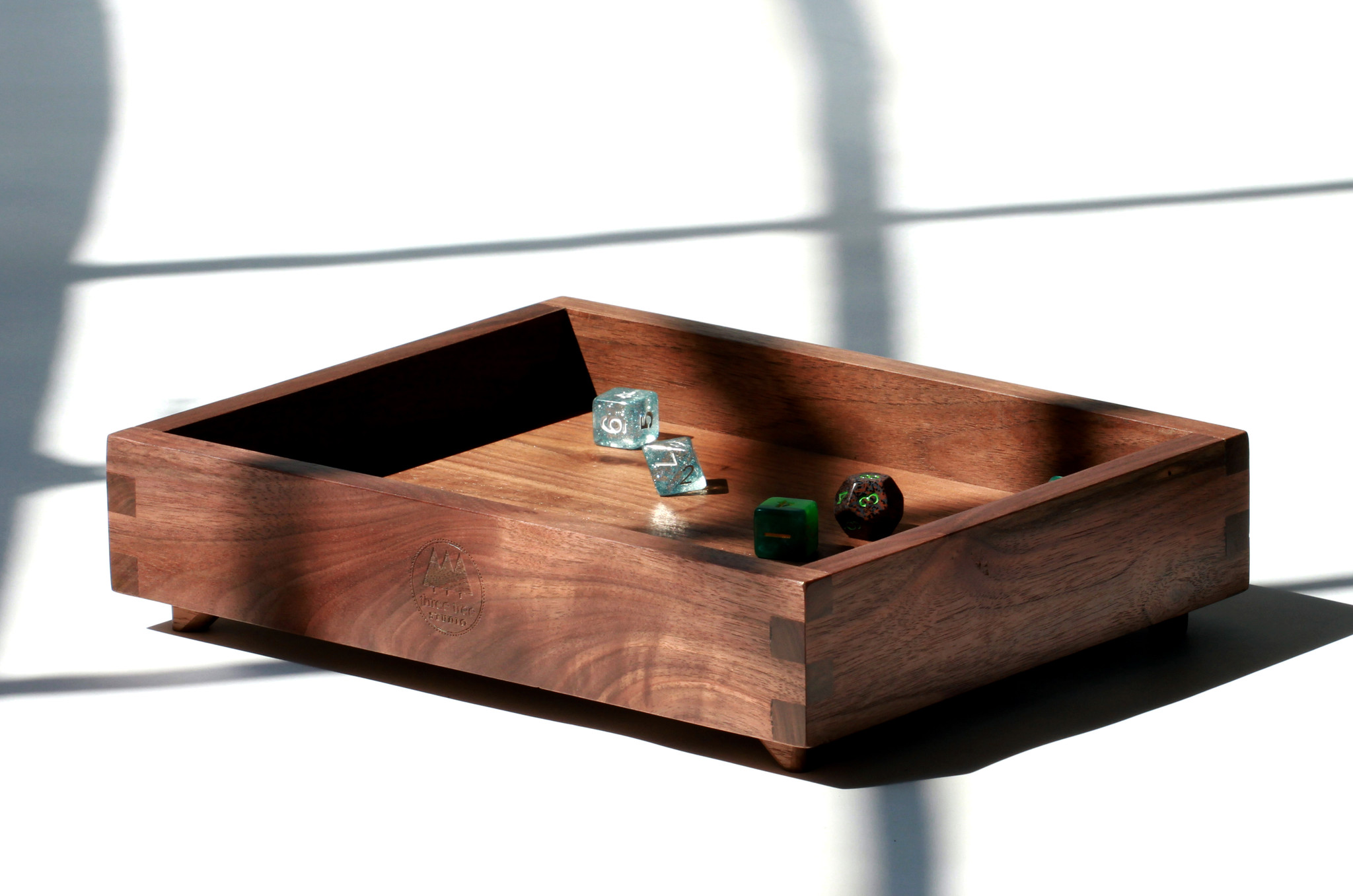 Black walnut dice tray
