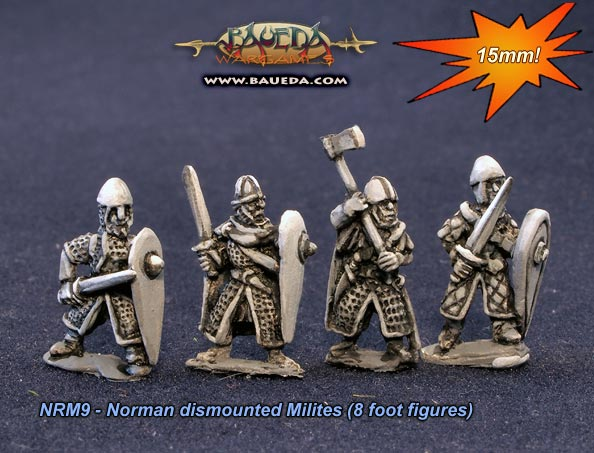 15mm dismounted Norman milites