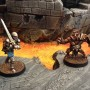 A Questing Knight and a brutal Shield Pig face off