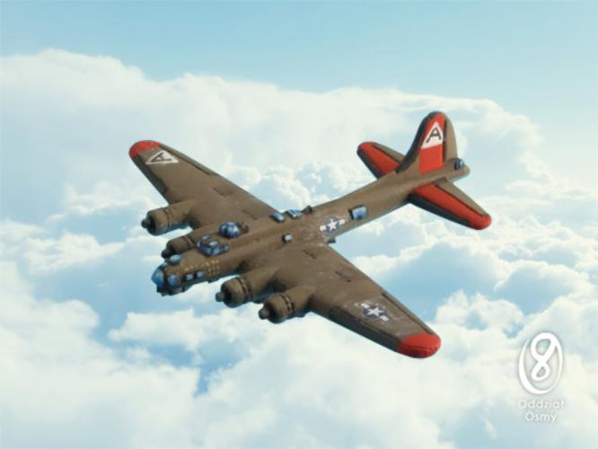 B-17G Flying Fortress (2 pcs) Famous U.S. heavy bomber