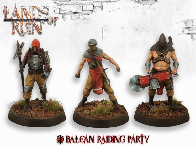 Printed and painted Balean raiding party