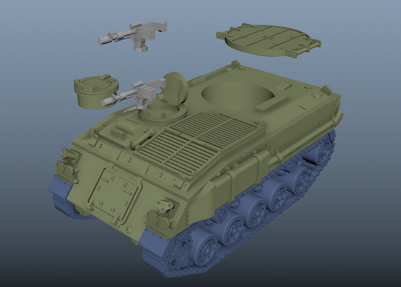 FV432 detailed render