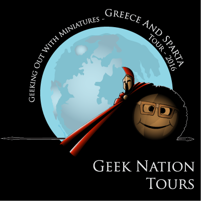 geek nation tours - geeking out with miniatures tour - greece and sparta 2016 - frank millaer 300 styled spartan warrior with happyface shield - 400 x 400
