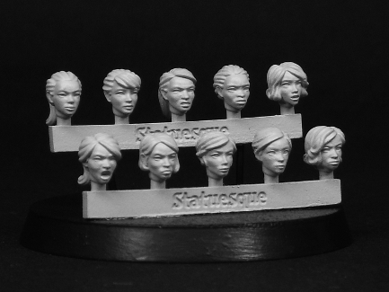 Fine Scale Female Heads