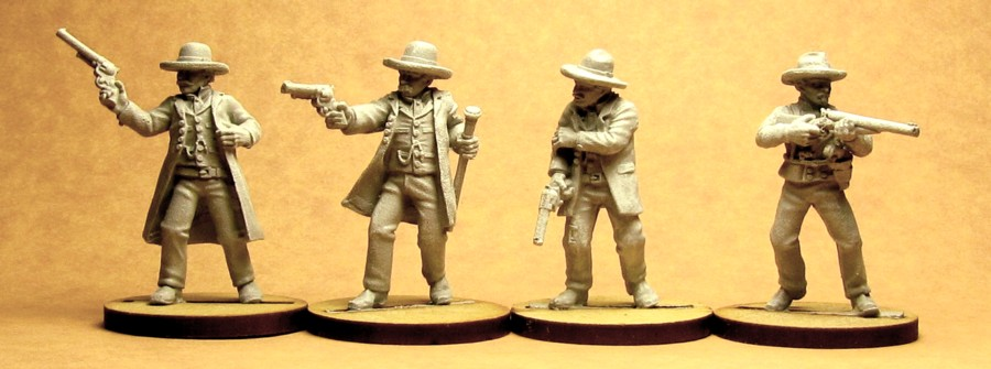Wyatt, Virgil, and Morgan Earp, with Doc Holliday on the Street Howitzer