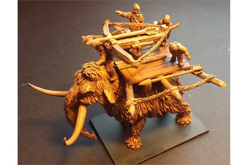 Frigian War Mammoth with Bolt Thrower and Crew