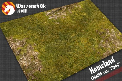 Gaming mat 72x48 battle board mat terrain homeland