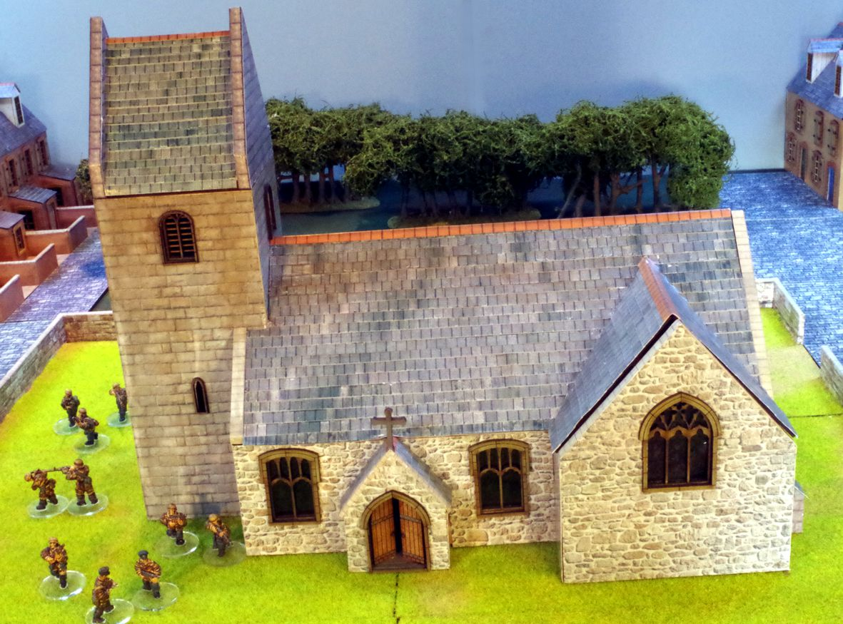 pitched tower norman church 28mm