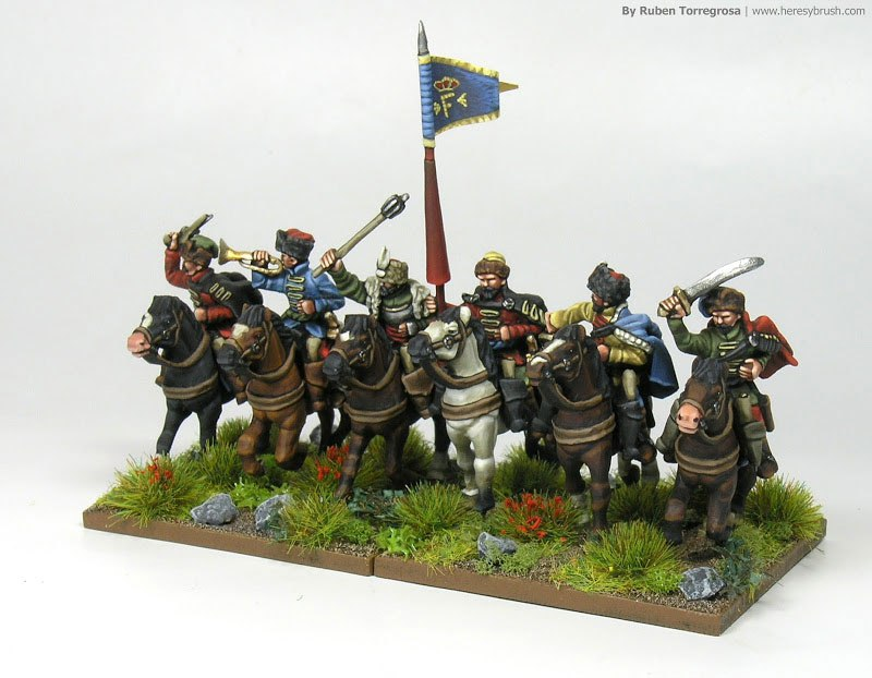 polish light cavalry, painted by Ruben Torregrosa