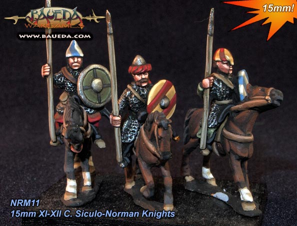 15mm XI-XII C. Siculo-Norman knights and Sergeants