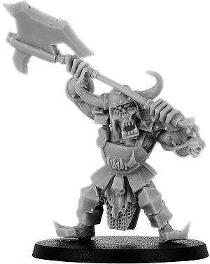 Buggrom of Ulmo Orc Warlord with Great Weapon on Foot