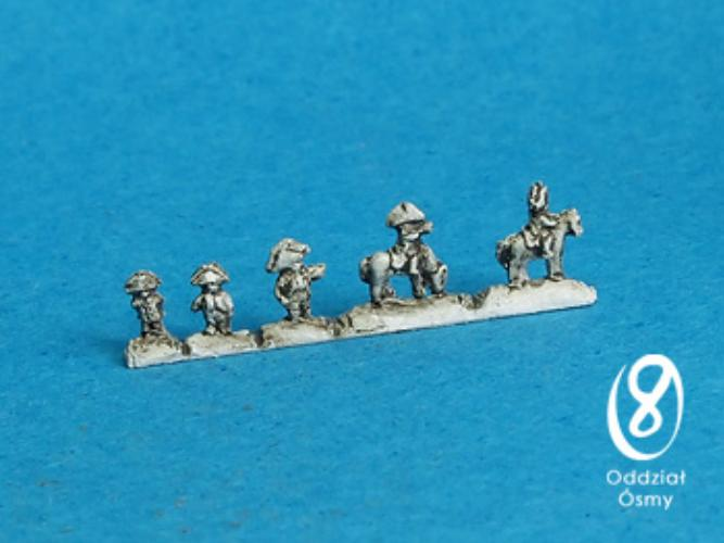 NAP-641 General Staff (15 pcs) A collection of high officers - standing and mounted