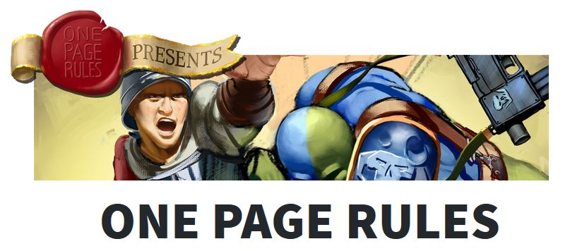 One Page Rules - Tabletop Gaming News – TGN