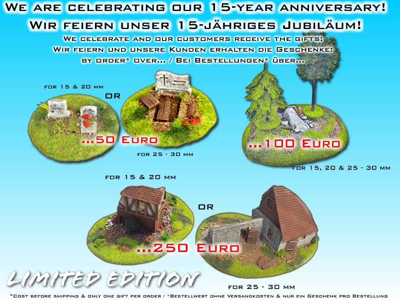 Our 15th year anniversary offer