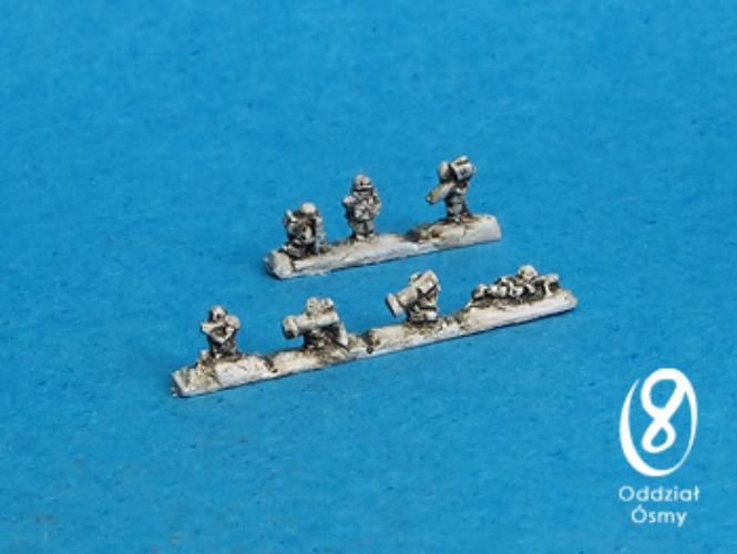 US-6106 US Infantry II (10 + 5 pcs) Standing strips with support weapons (LAWs, ATGMs, MGs, MANPADs) and command