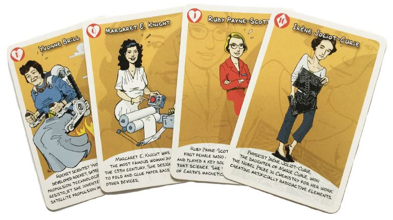 Women in science card game now available tabletop gaming news