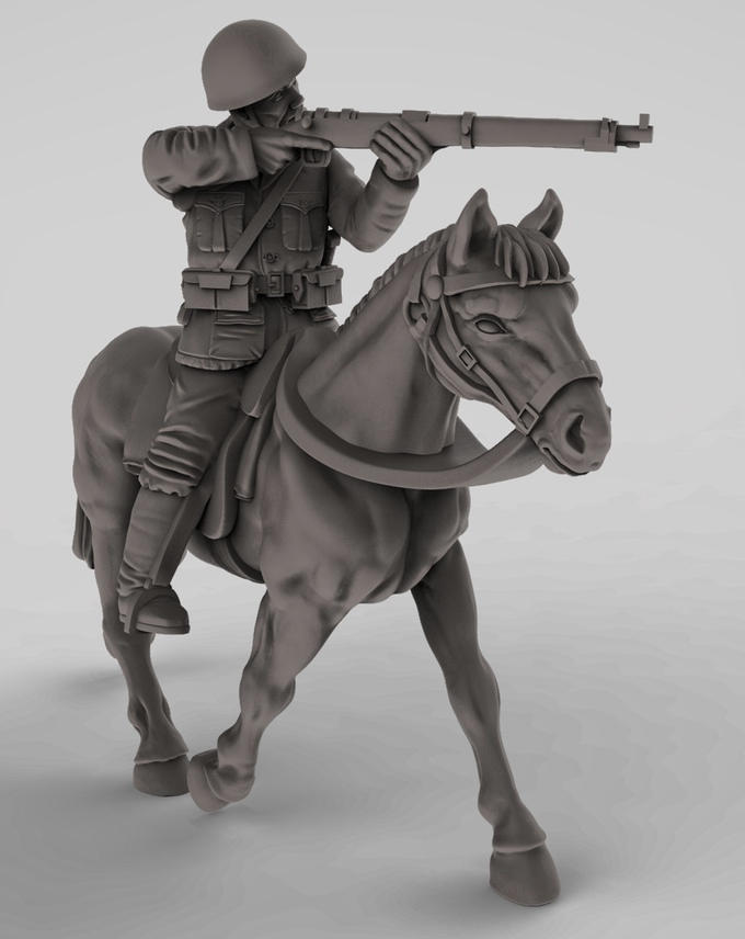 3d-mockup-of-ww2-cavalry