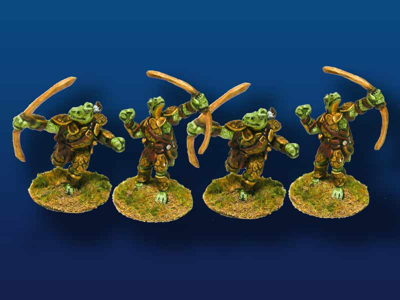 Saurian Archers – Set of 4