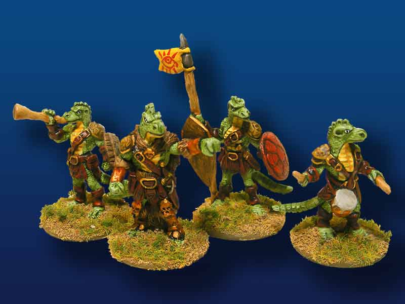 Saurian Comand – Set of 4