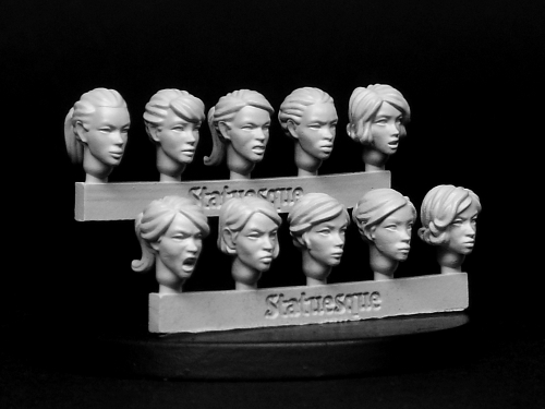 Heroic Scale Female Heads NARROW