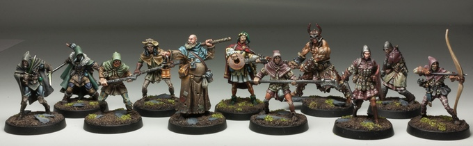 Examples of the high quality fantasy figure range currently available on Red-box-games
