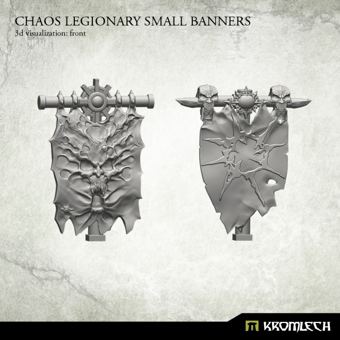 KRCB175 Chaos Legionary Small Banners 3d1