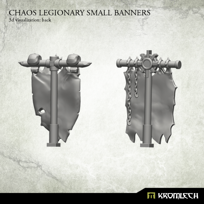 KRCB175 Chaos Legionary Small Banners 3d2