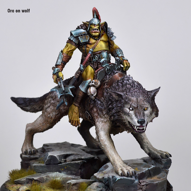 Orc on wolf - Boxart by Marc Masclans