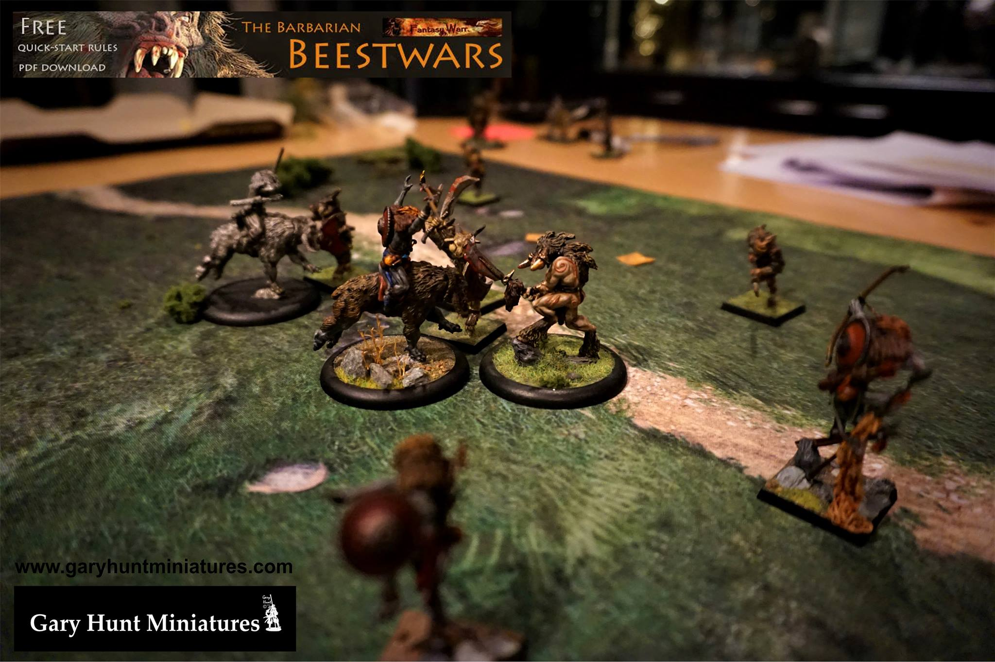 The Barbarian Beestwars quick-start tabletop game