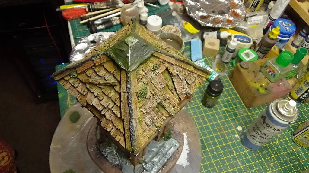 Watchtower painting WIP