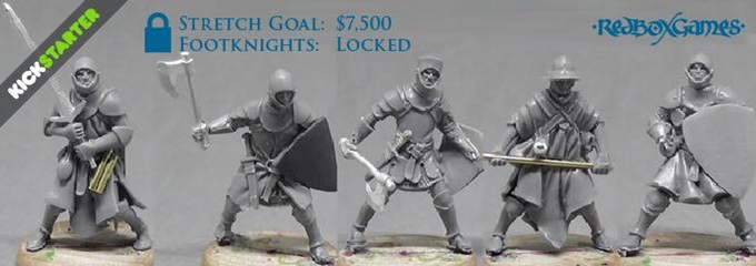 Work in progress sculpts of 5 Men at Arms with interchangeable head, helm, and weapon options