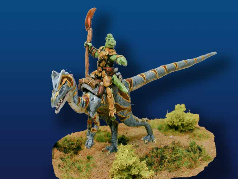 Dilophosaurus with Saurian Rider (pewter)