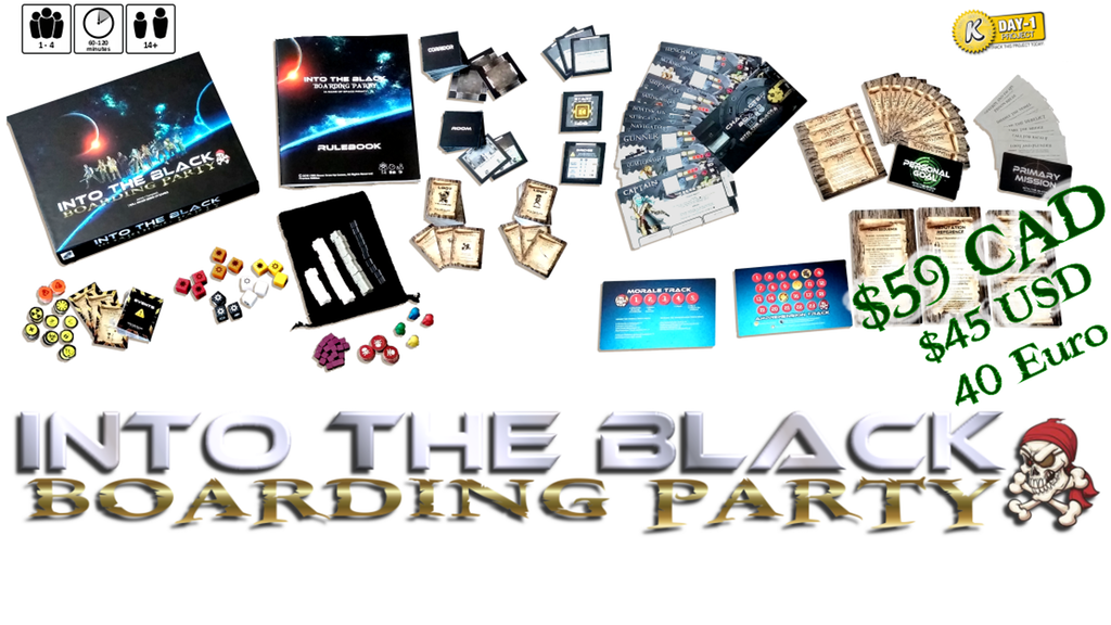 Into the Black: Boarding Party Semi-Cooperative Board Game Up On Kickstarter