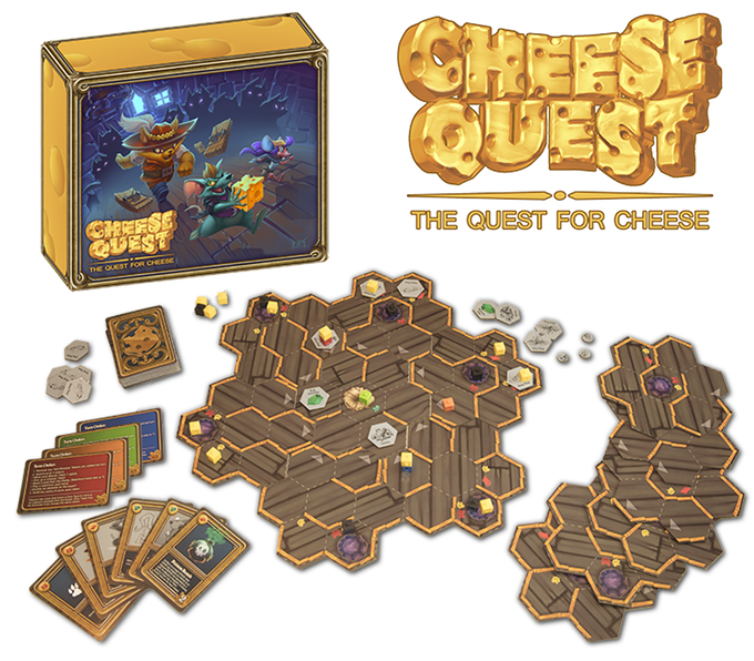 cheese quest the quest for cheese card game up on kickstarter