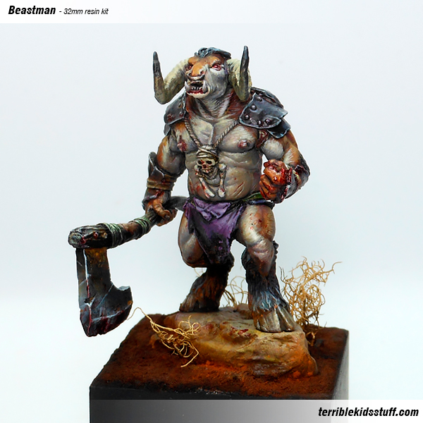 Beastman painted by Angel Giraldez
