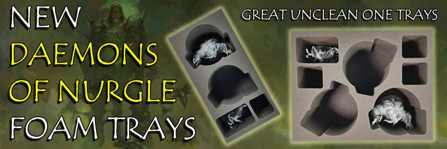 New Daemons of Nurgle Foam Trays