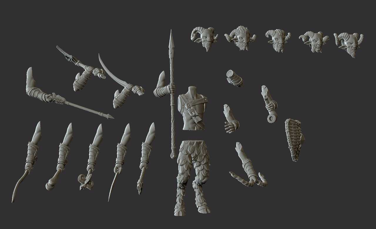 Assortment of Parts to Create Warriors Bowmen Spearmen etc