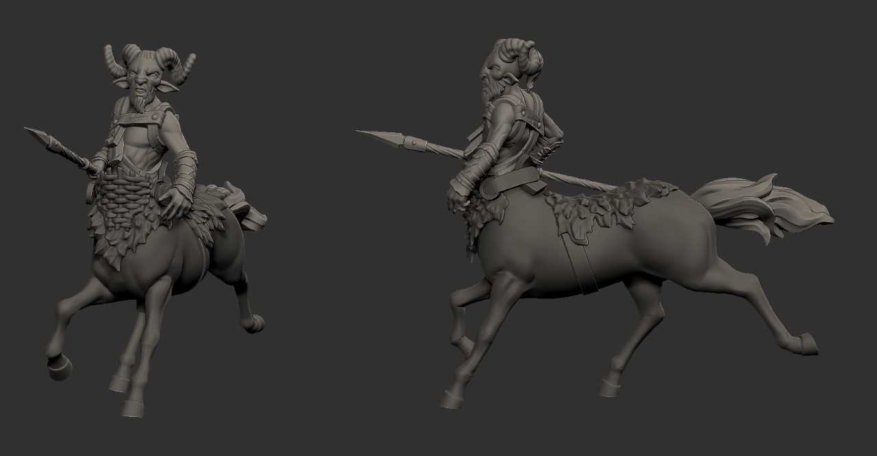 Horse Body Conversion Kit for the Faun Torsos to Make Centaurs