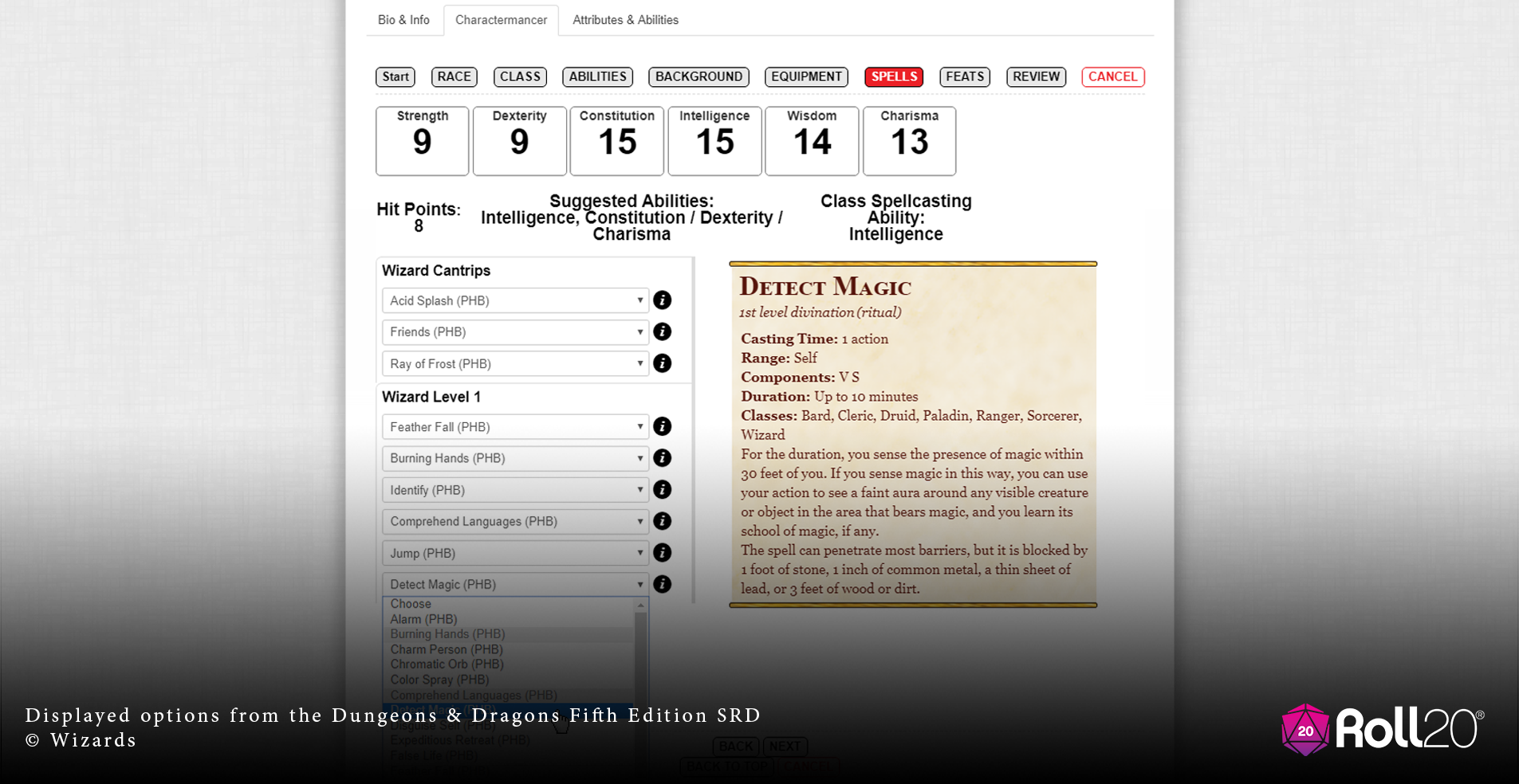 Roll20 Adds Charactermancer Character-Building Helper