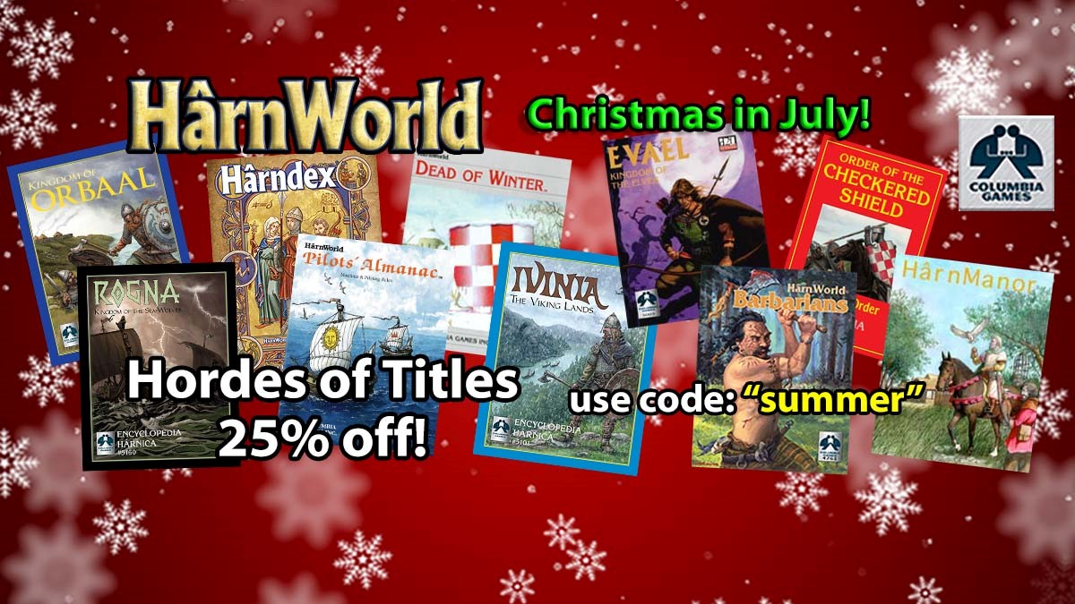 Harn Christmas in July Sale Happening Now - Tabletop Gaming News – TGN